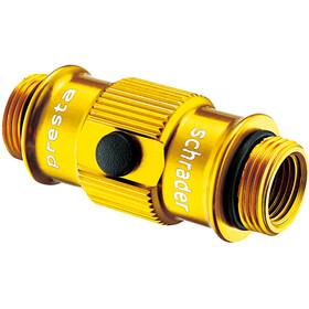 Lezyne ABS Flip-Thread Chuck HP für Swivel/Micro Floor/Standpumpen gold-glänzend